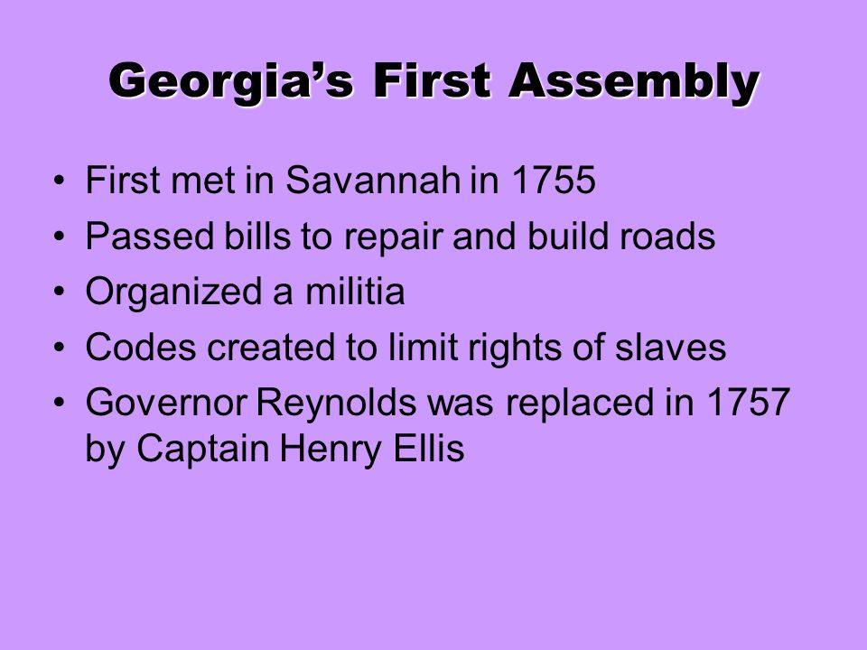 Georgia's First Assembly