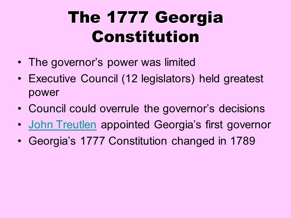 The 1777 Georgia Constitution
