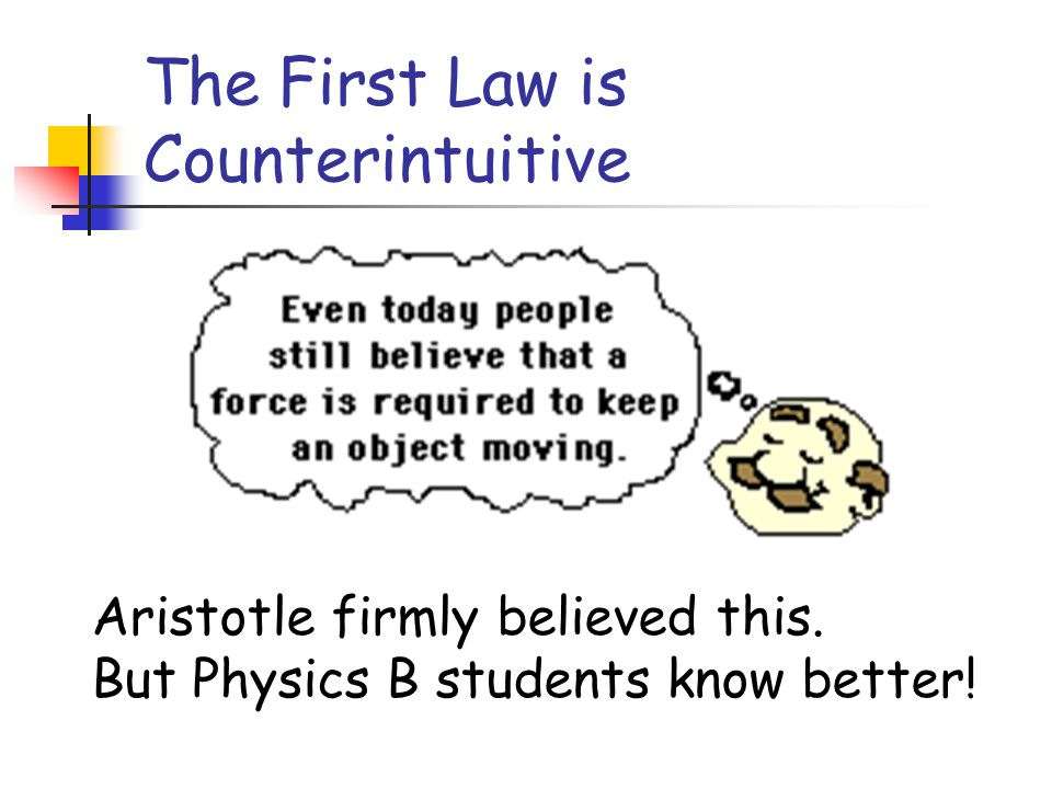 The First Law is Counterintuitive