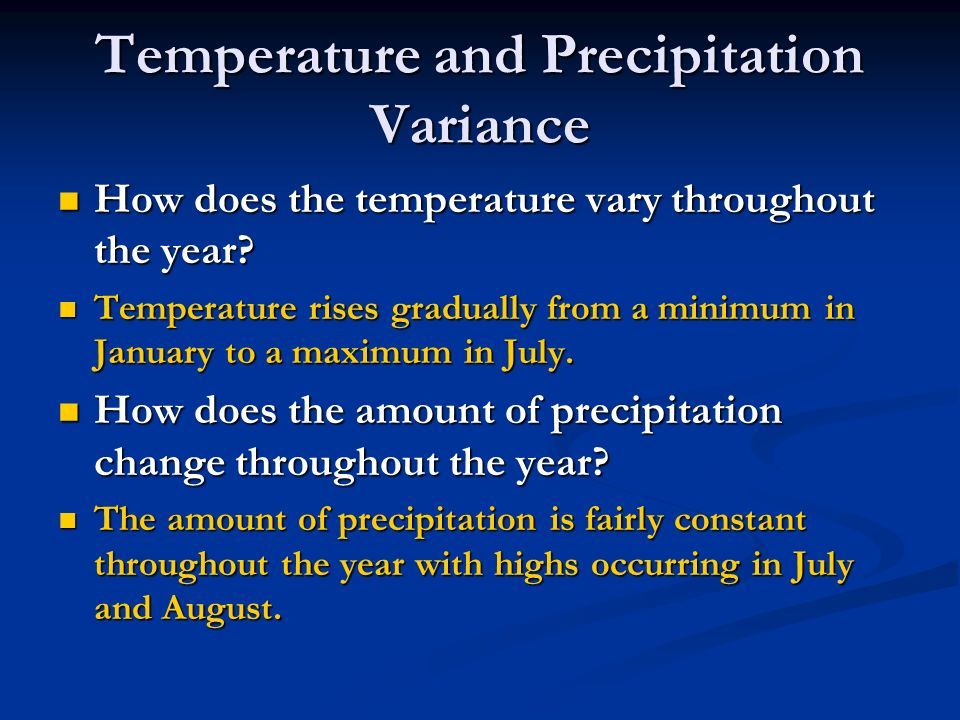Temperature and Precipitation Variance