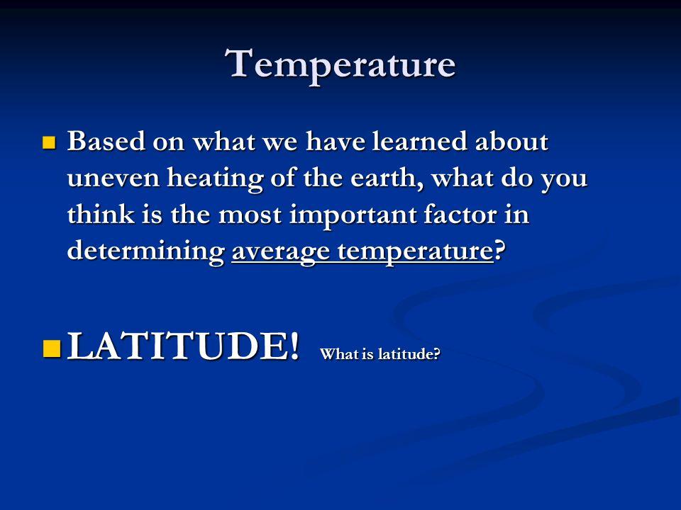 LATITUDE! What is latitude