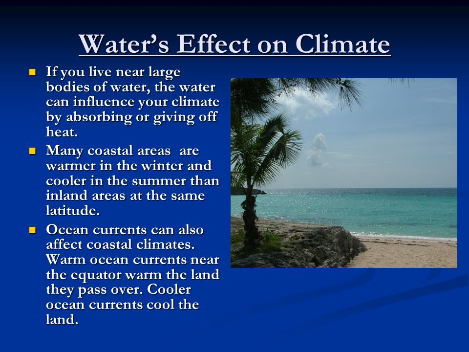 Water's Effect on Climate