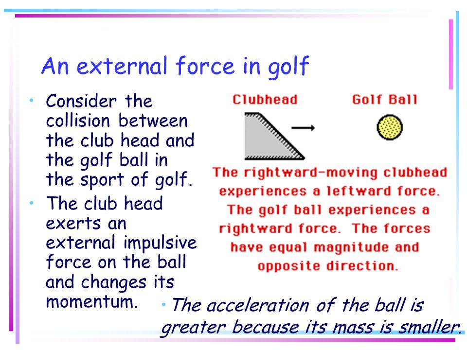 An external force in golf