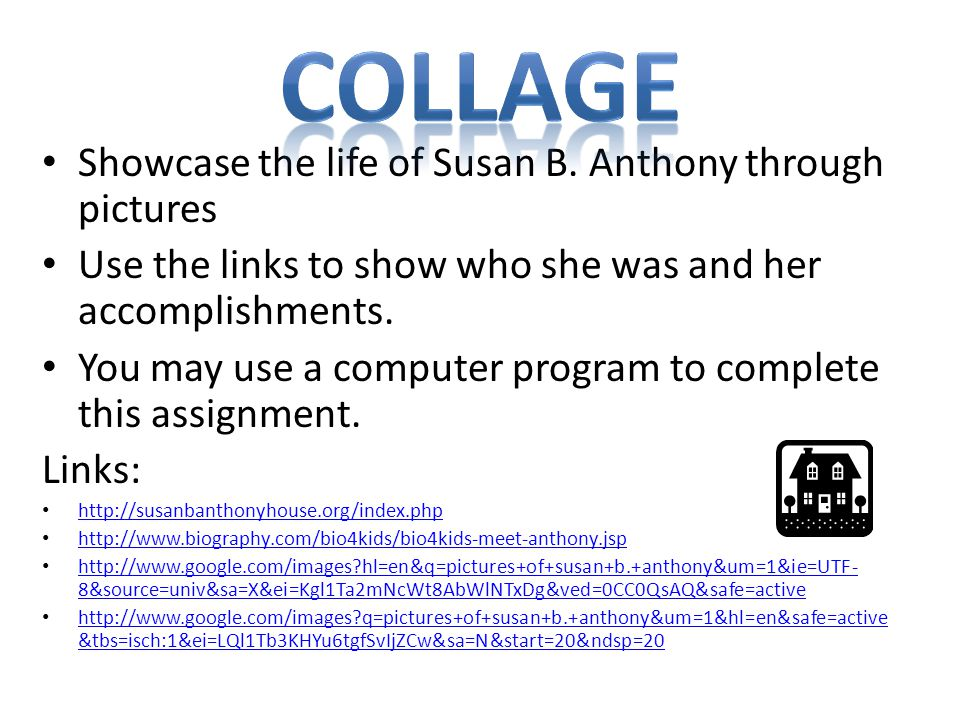 Collage Showcase the life of Susan B. Anthony through pictures