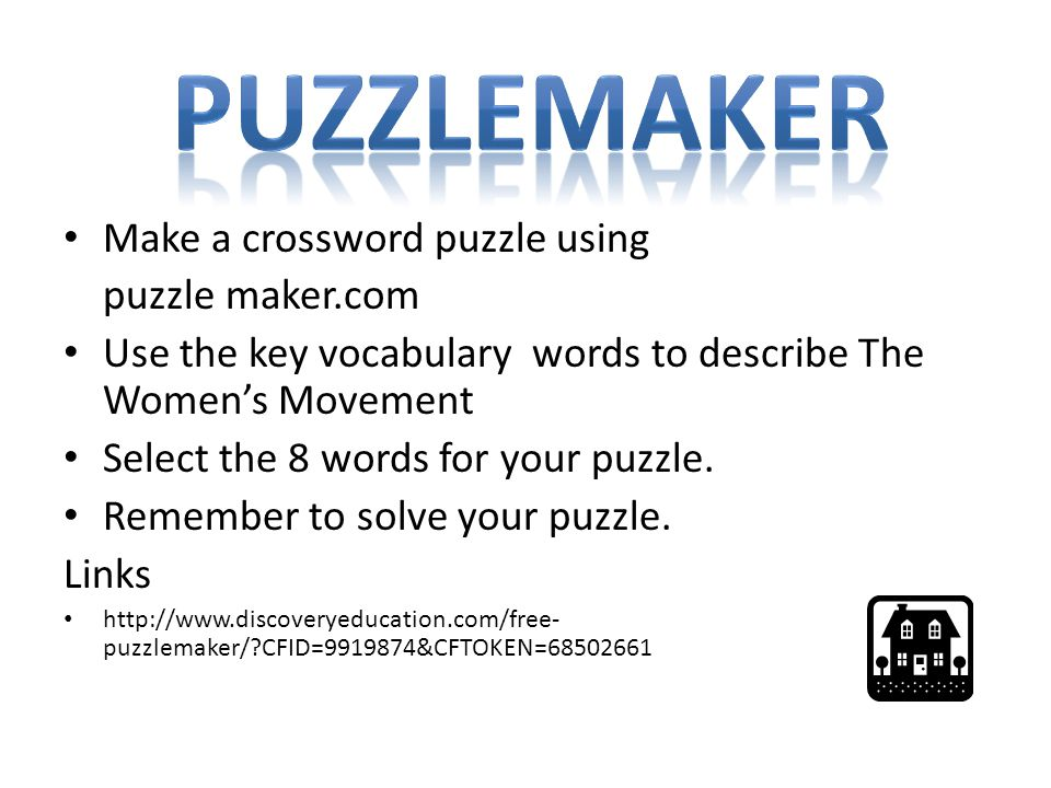 Puzzlemaker Make a crossword puzzle using puzzle maker.com