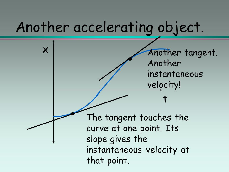 Another accelerating object.