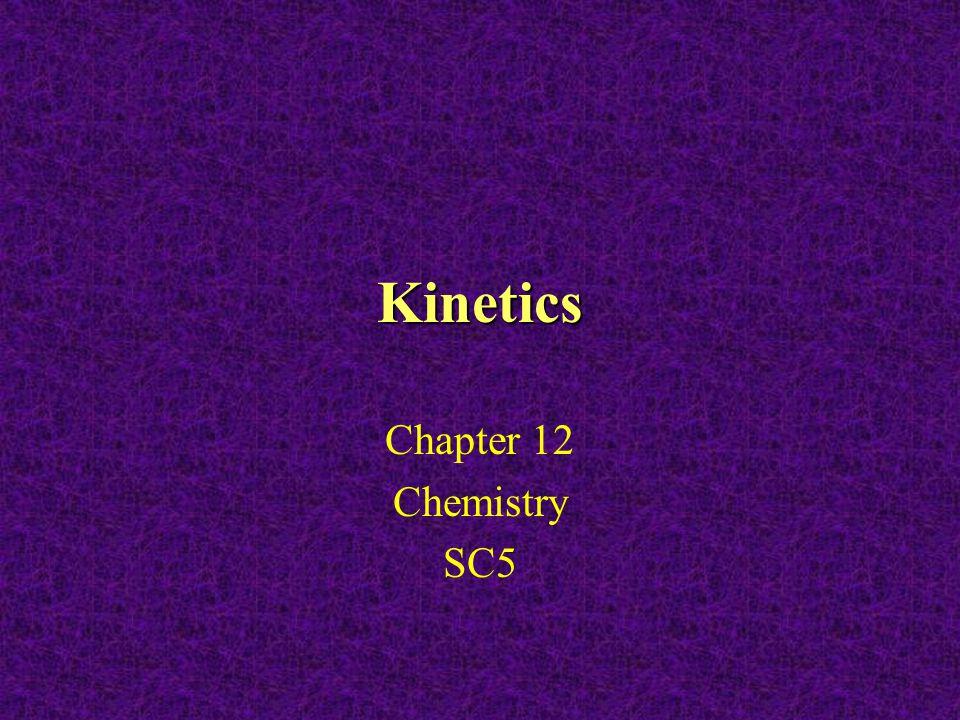 Kinetics Chapter 12 Chemistry SC5
