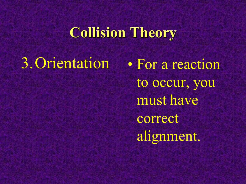 Orientation Collision Theory