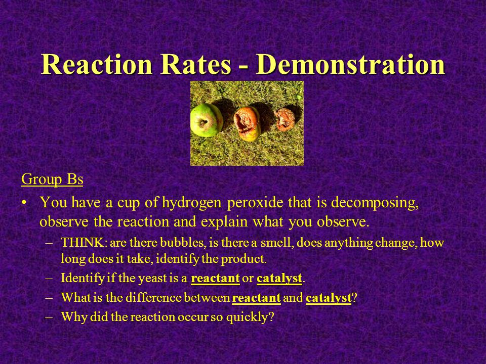 Reaction Rates - Demonstration