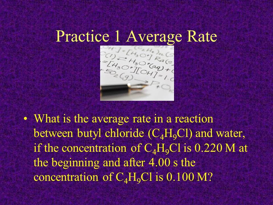 Practice 1 Average Rate