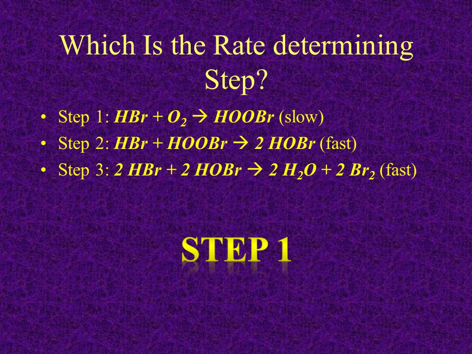 Which Is the Rate determining Step