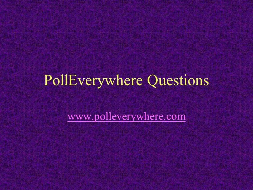 PollEverywhere Questions
