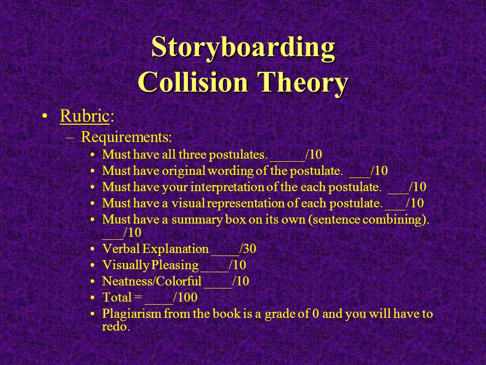 Storyboarding Collision Theory
