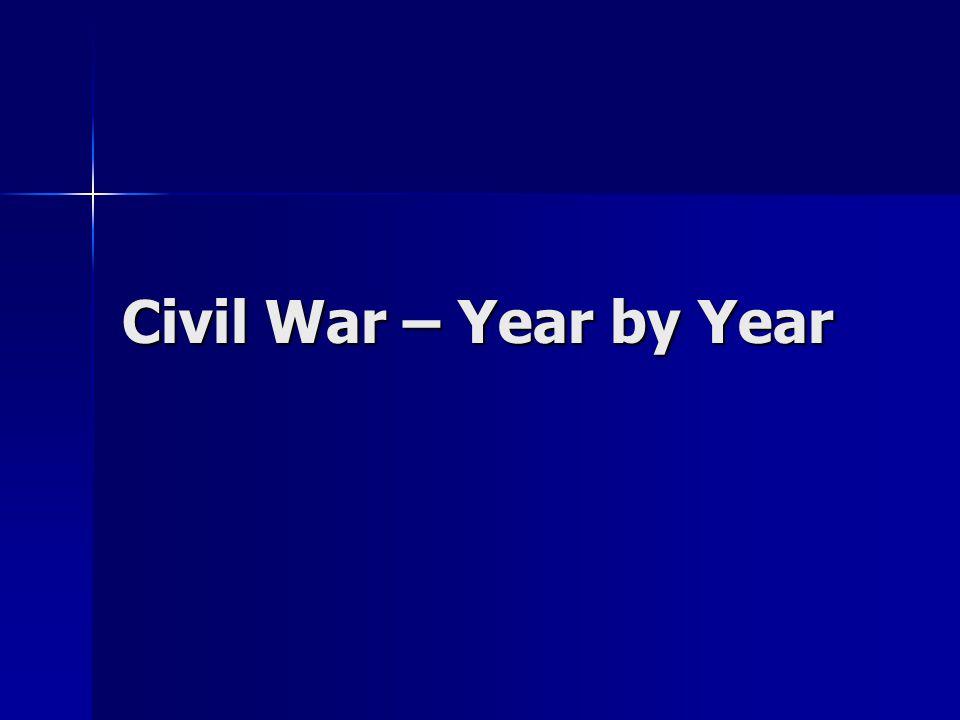 Civil War – Year by Year