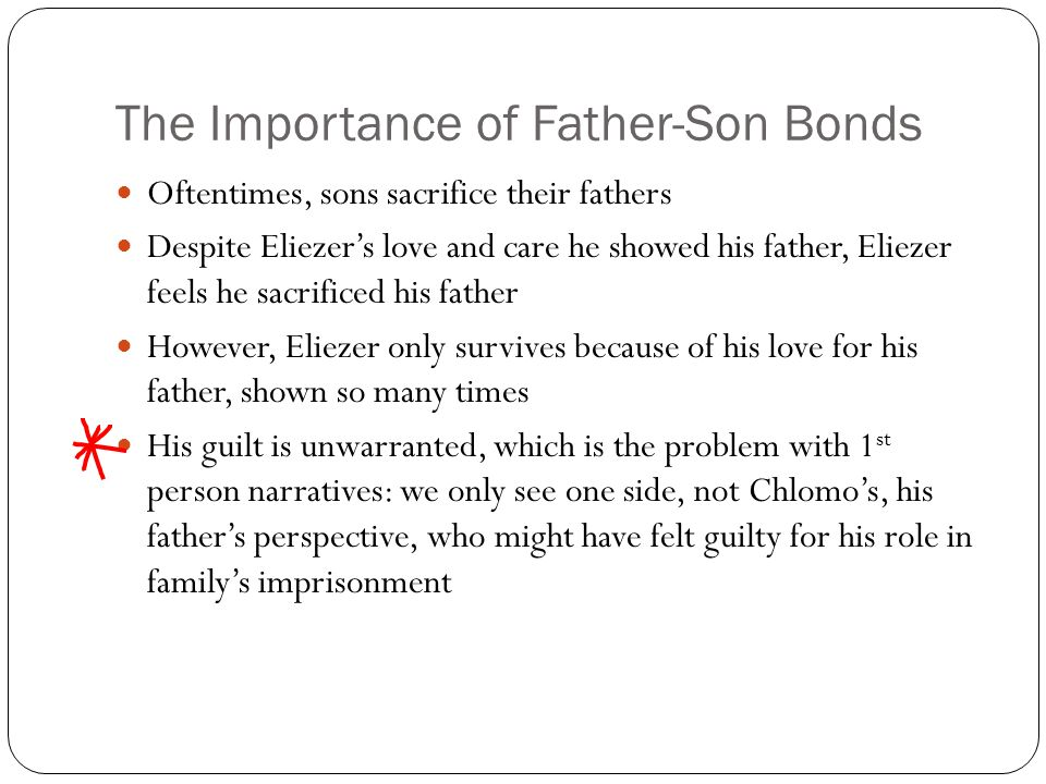 The Importance of Father-Son Bonds