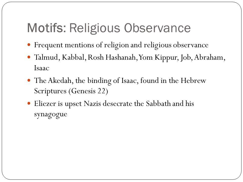 Motifs: Religious Observance