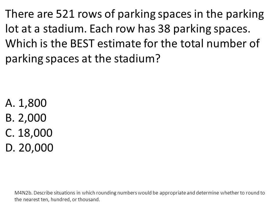There are 521 rows of parking spaces in the parking lot at a stadium