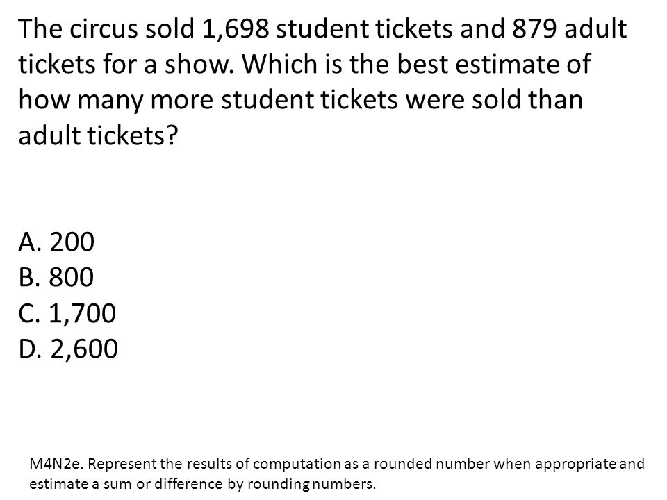 The circus sold 1,698 student tickets and 879 adult tickets for a show