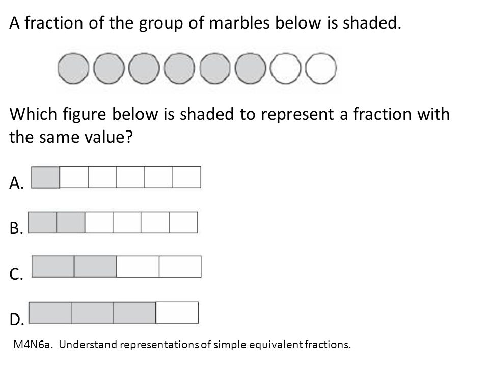 A fraction of the group of marbles below is shaded.