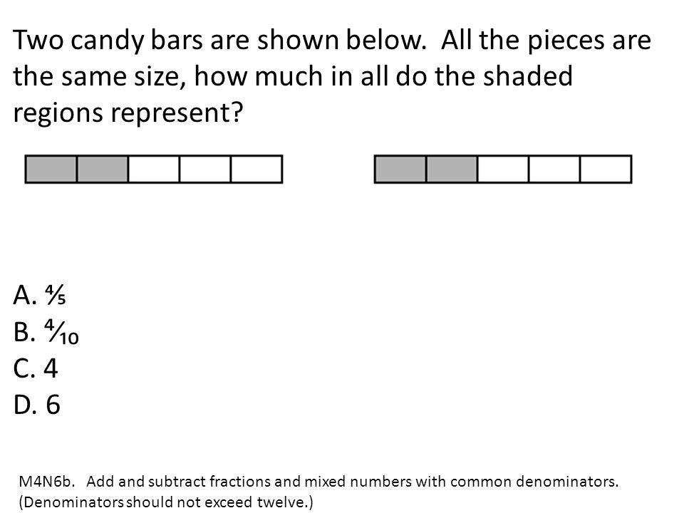 Two candy bars are shown below