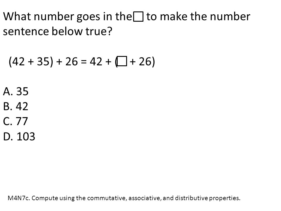 What number goes in the to make the number sentence below true