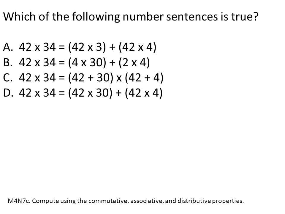 Which of the following number sentences is true