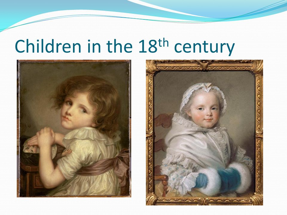 Children in the 18th century