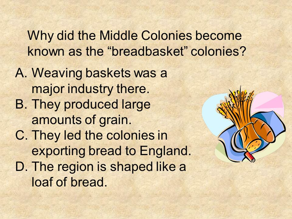 Why did the Middle Colonies become known as the breadbasket colonies