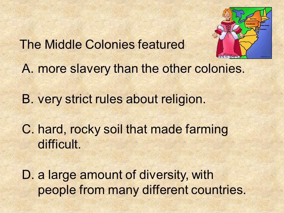 The Middle Colonies featured