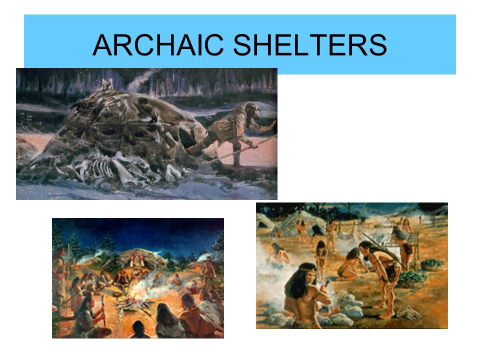 ARCHAIC SHELTERS