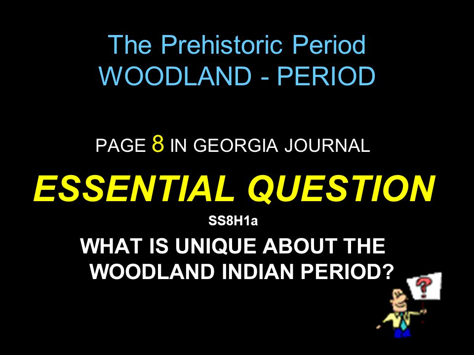 The Prehistoric Period WOODLAND - PERIOD