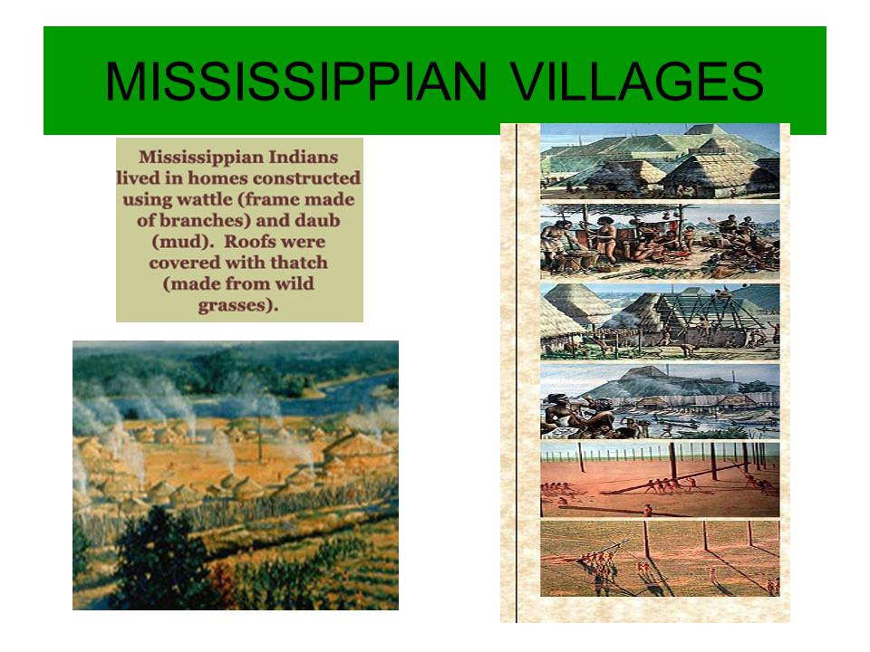 MISSISSIPPIAN VILLAGES