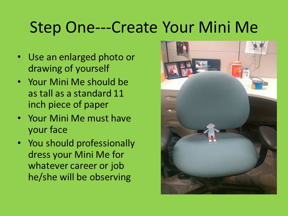 Step One---Create Your Mini Me