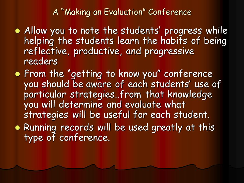 A Making an Evaluation Conference