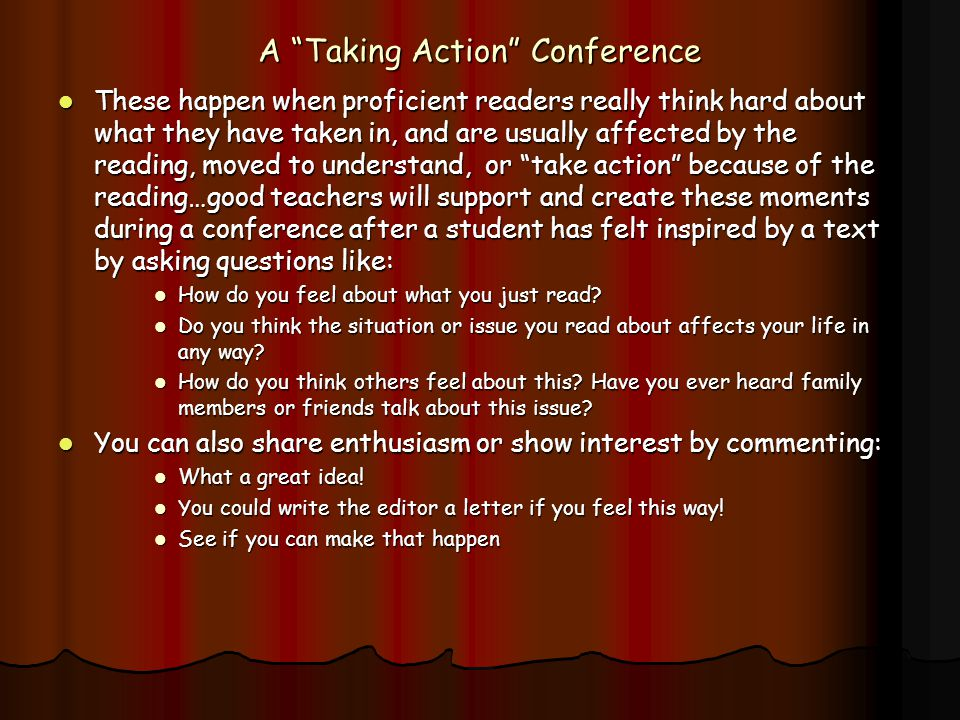 A Taking Action Conference