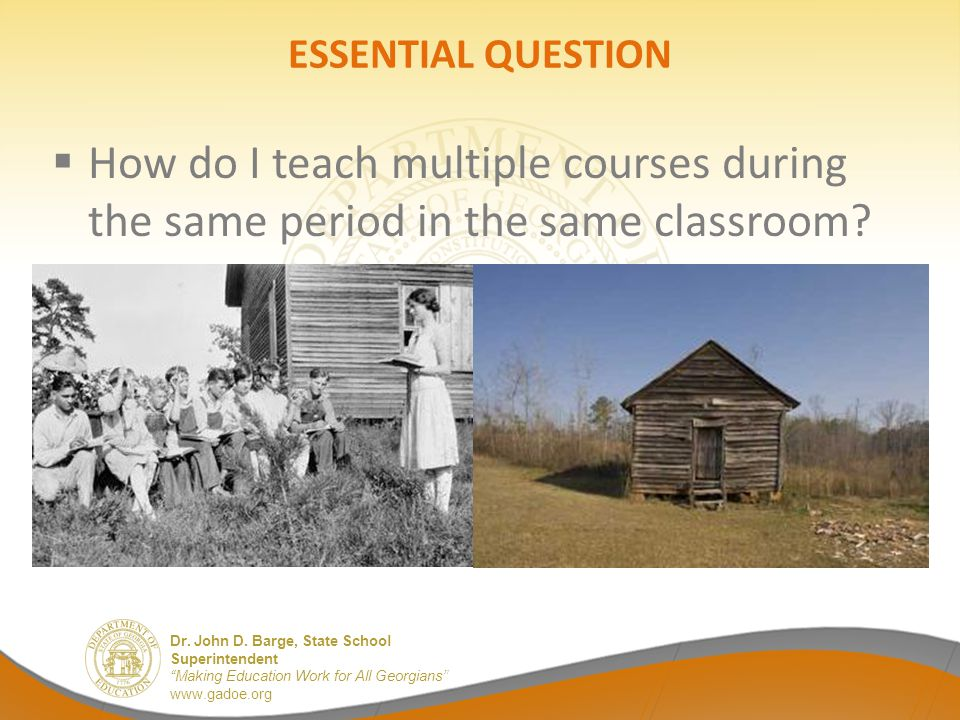 ESSENTIAL QUESTION How do I teach multiple courses during the same period in the same classroom