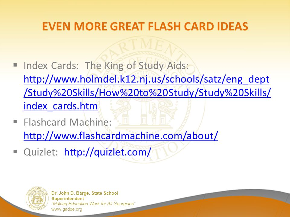 EVEN MORE GREAT FLASH CARD IDEAS