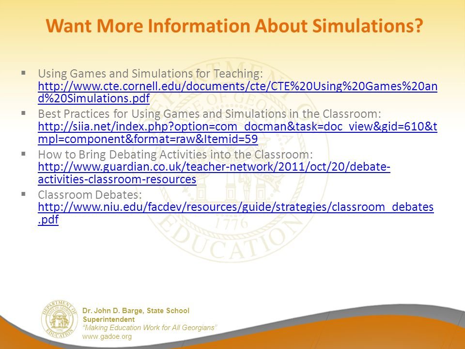 Want More Information About Simulations