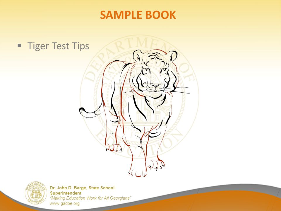 SAMPLE BOOK Tiger Test Tips