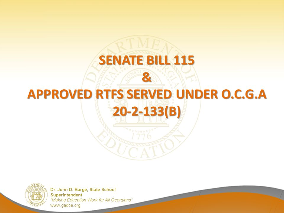 Approved RTFs Served Under O.C.G.A 20-2-133(B)