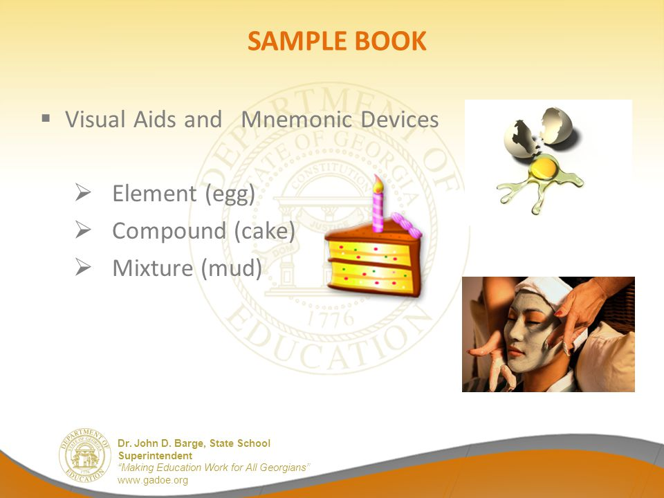 SAMPLE BOOK Visual Aids and Mnemonic Devices Element (egg)