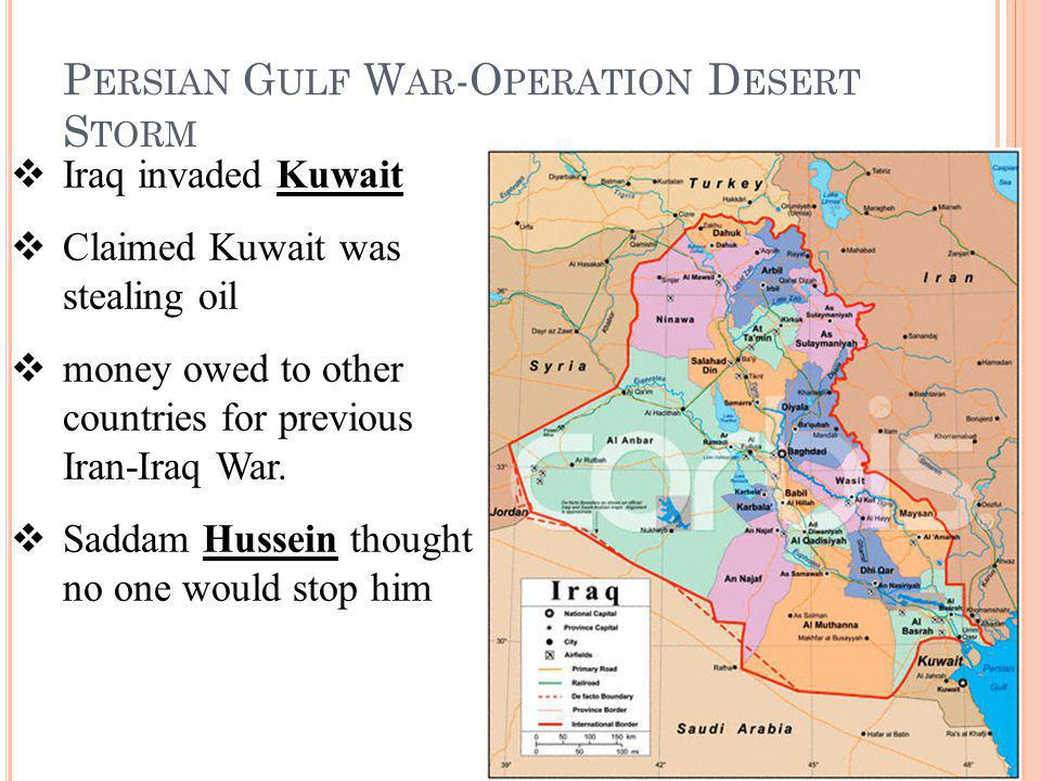 Persian Gulf War-Operation Desert Storm