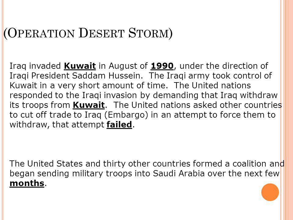 (Operation Desert Storm)