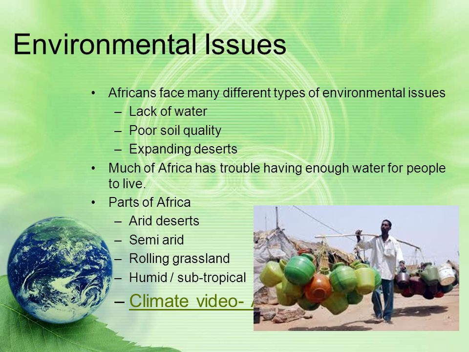 Environmental Issues Climate video- Africa.asx