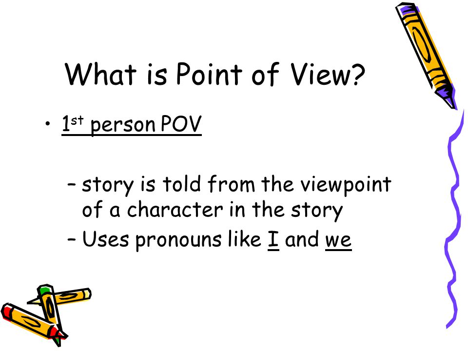 What is Point of View 1st person POV