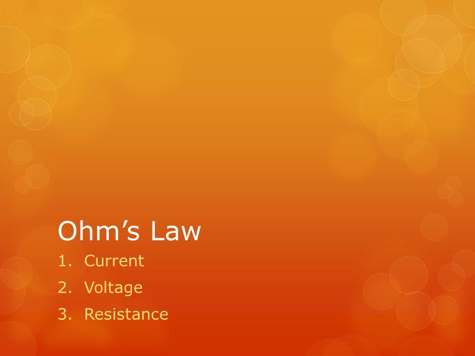 Current Voltage Resistance