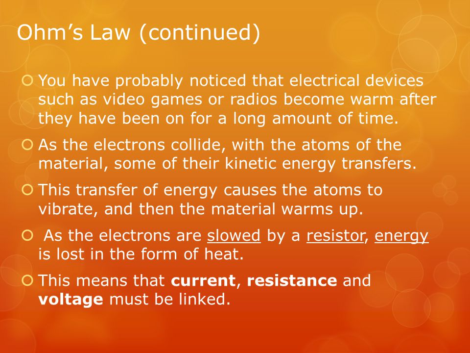 Ohm's Law (continued)