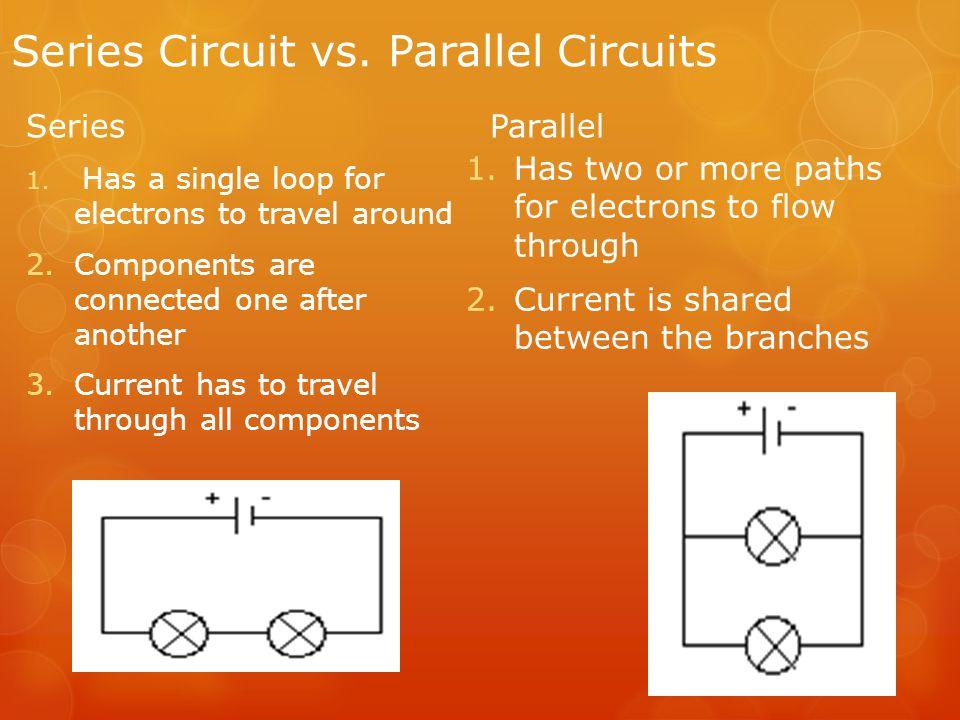 Series Circuit vs. Parallel Circuits