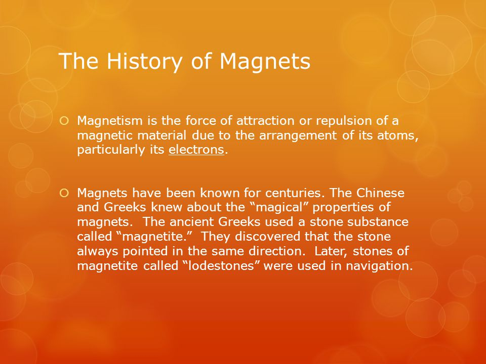 The History of Magnets