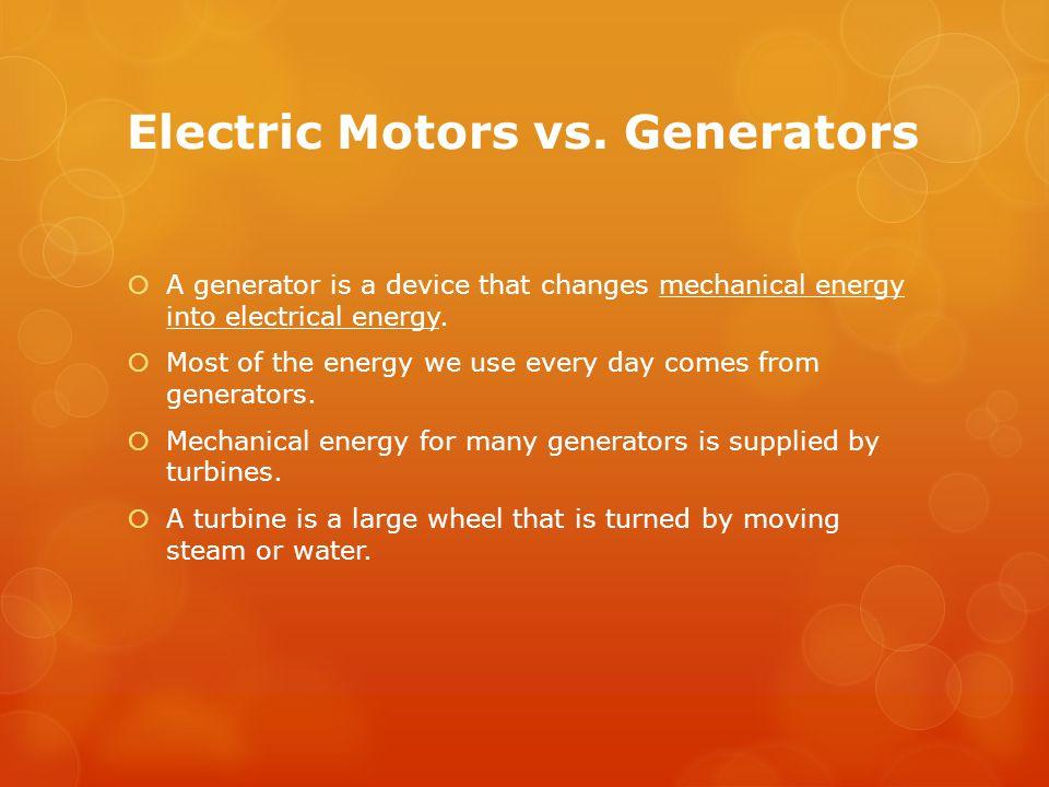 Electric Motors vs. Generators